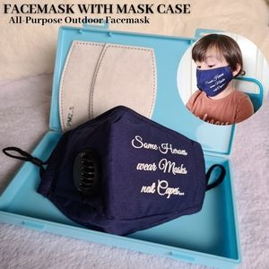 Personalized Kids Washable Facemask Slogan with Insert Pouch Face Mask Storage